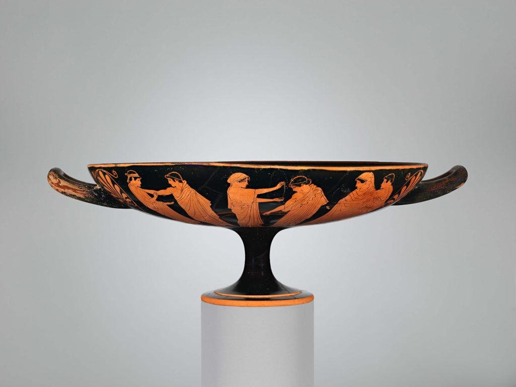 Terracotta Kylix por Douris (The Met)