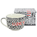 Caneca de Porcelana 650mL  I Love You Idiomas - Zona Criativa