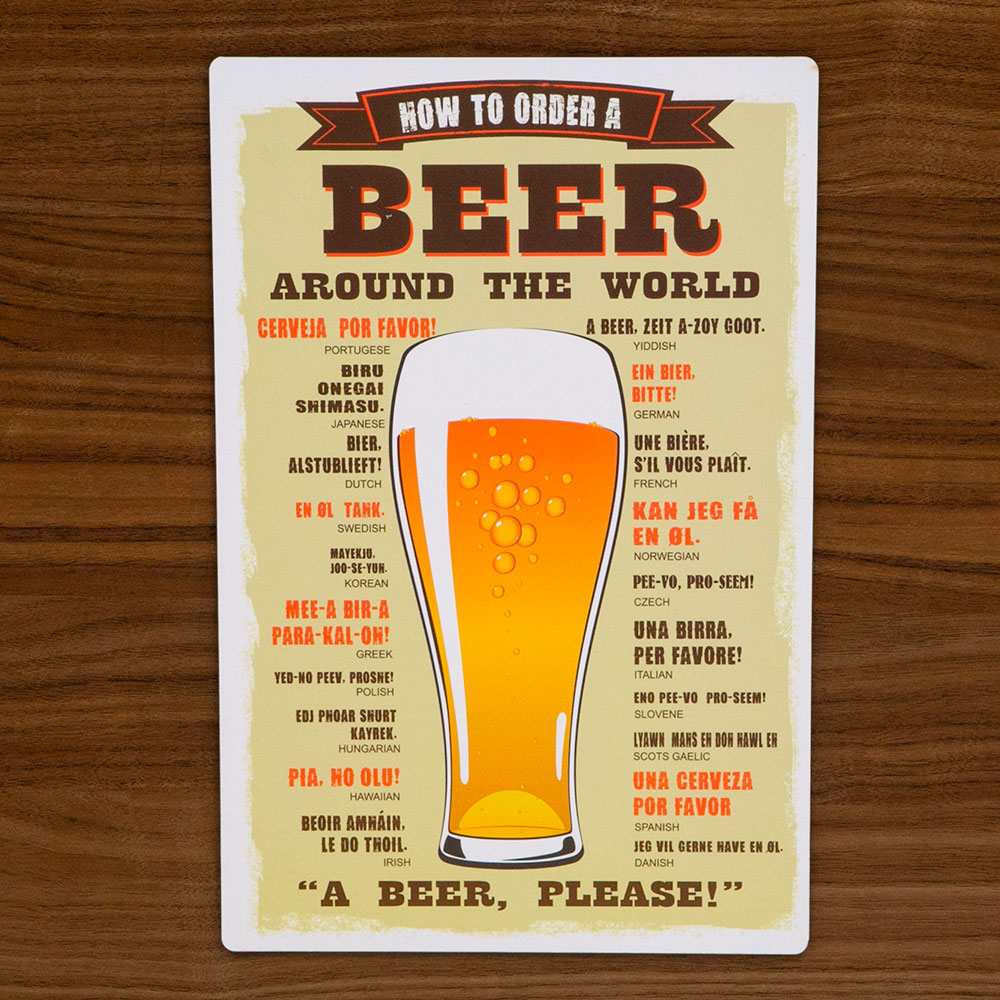 Placa Decorativa Mdf a Beer Please 29,5x19,5cm - Cia Laser