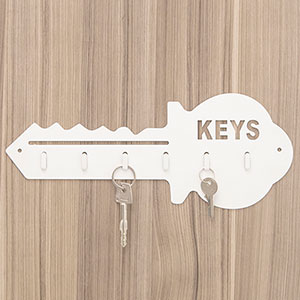 Porta Chaves Keys com 6 Ganchos 32cm - Home Space